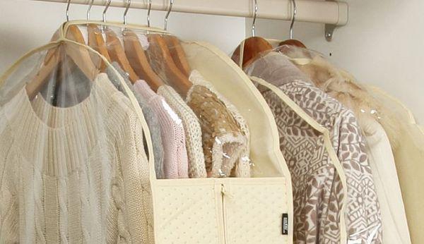 Одежду от моли можно спрятать в чехол