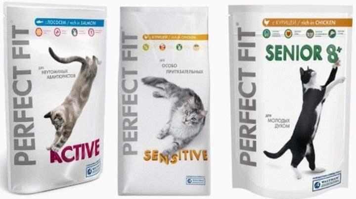 3 пакета корма Перфект Фит для кошек