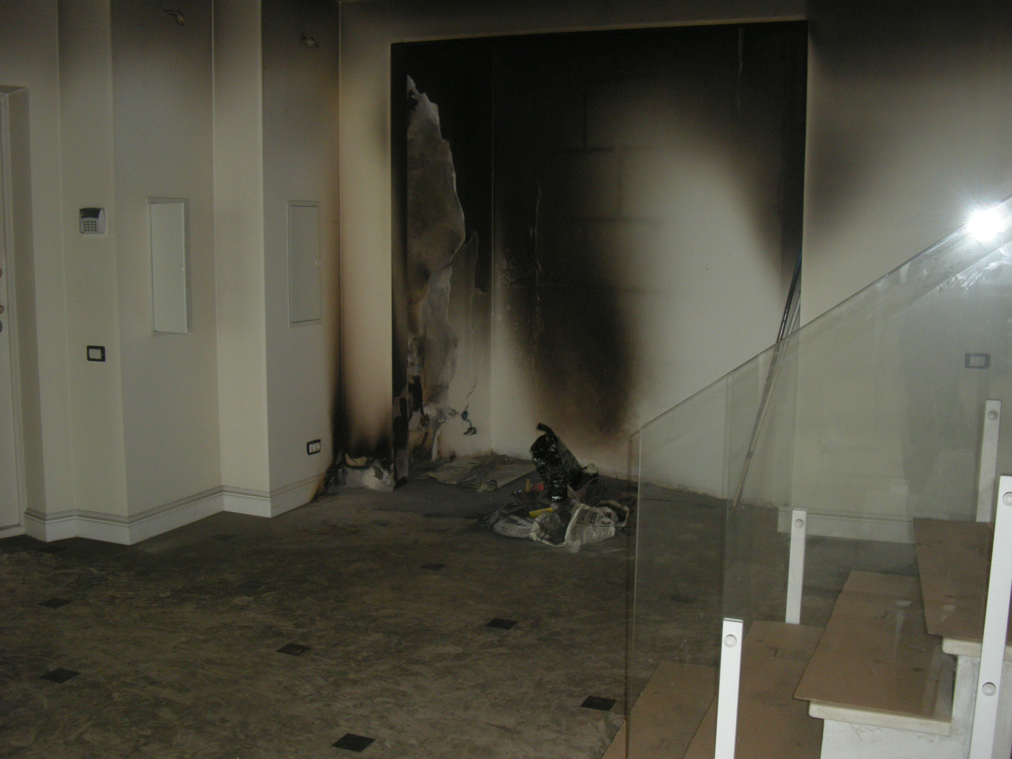 Последствия пожара в квратире