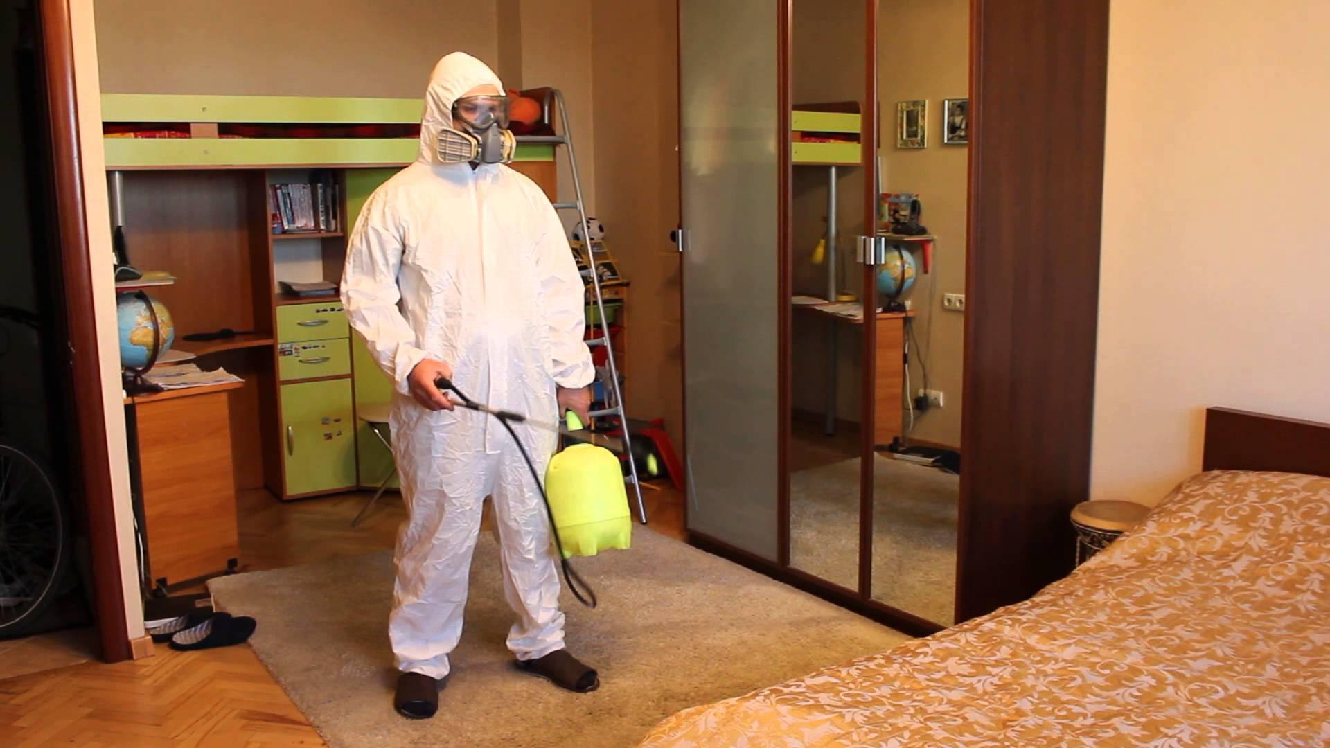 Обработка квартиры от тараканов при помощи Регента