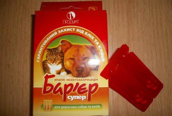 Барьер - защищает кошек и собак от паразитов