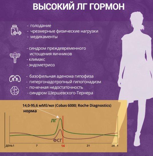 ЛГ у женщин