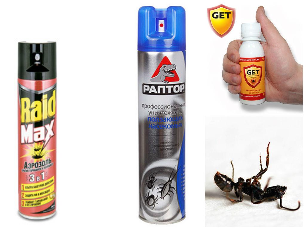 Виды аэрозолей против муравьев