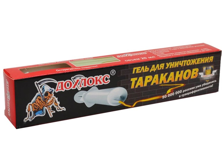 «Дохлокс гель» от тараканов действует довольно быстро