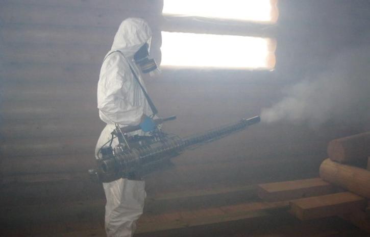 Обработка помещения от клопов горячим туманом