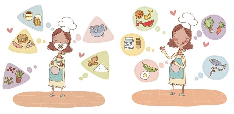 Что нельзя есть беременным, а что можно, список продуктов.