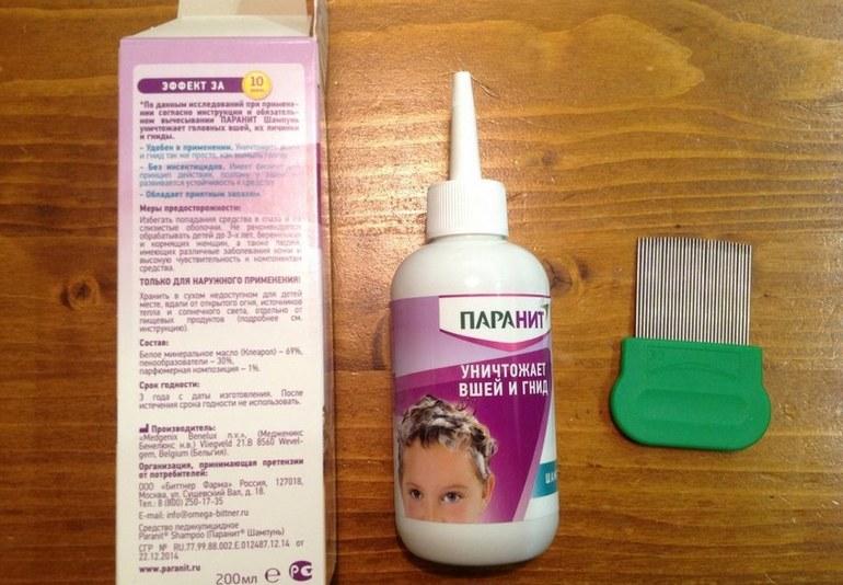 Использование аптечных средств от гнид и вшей у детей