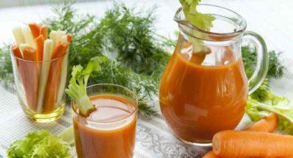 шпинат и морковный сок