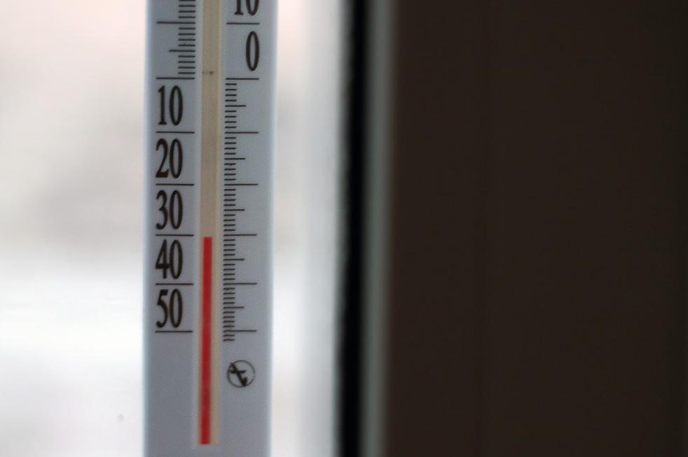 30-градусный мороз по термометру