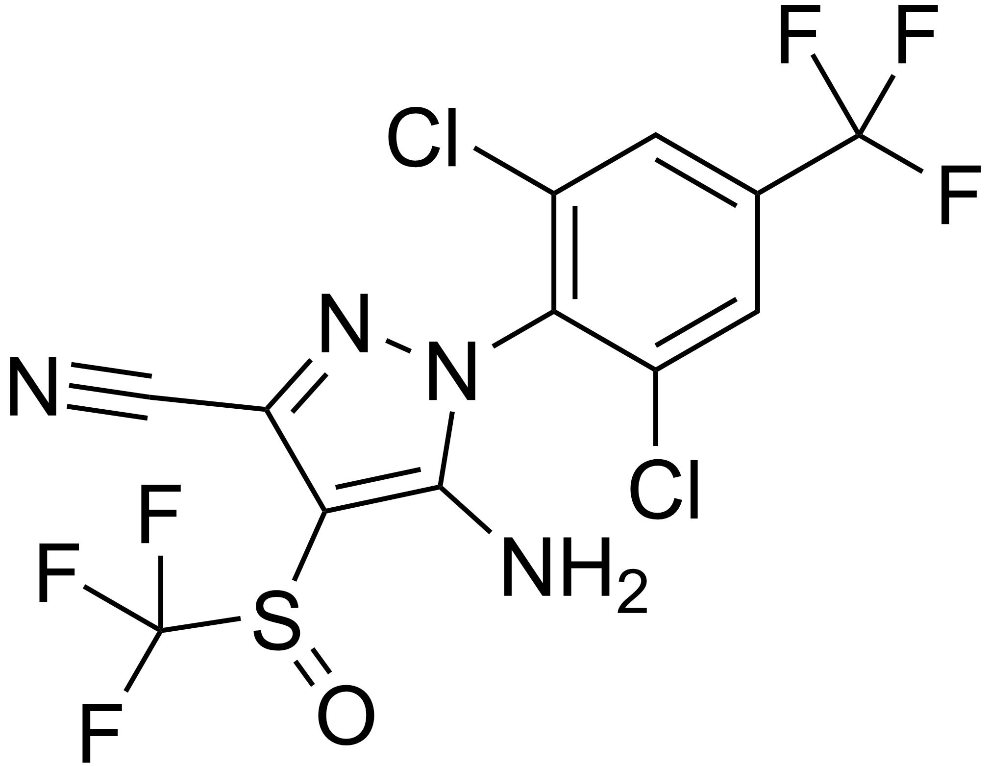Химическая структура фипронила