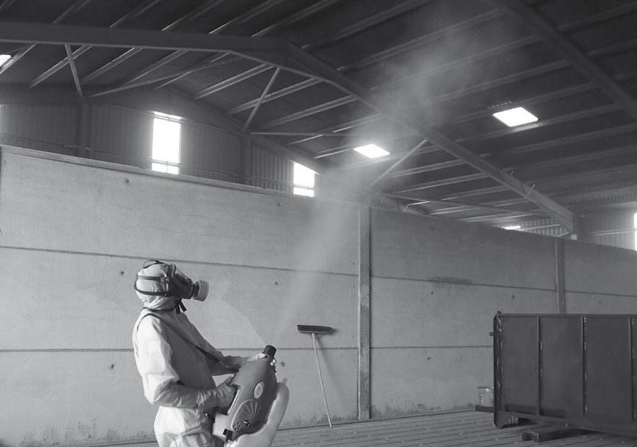 Уничтожение клопов горячим туманом в складском помещении