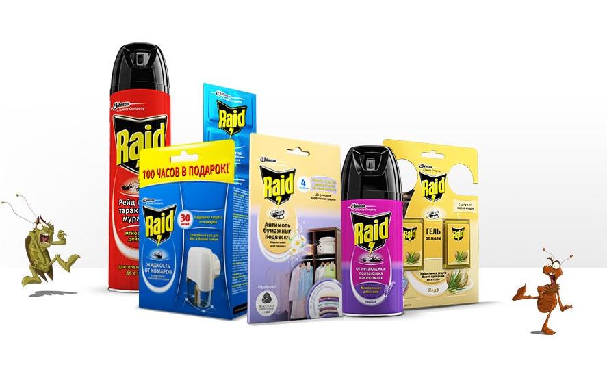 Средства raid против тараканов