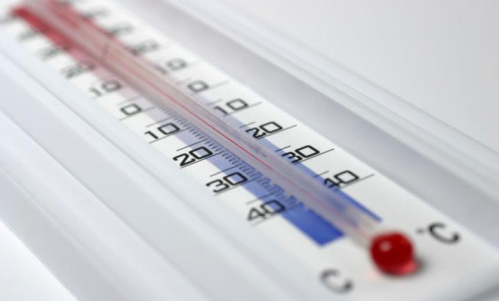 Шкала термометра крупным планом