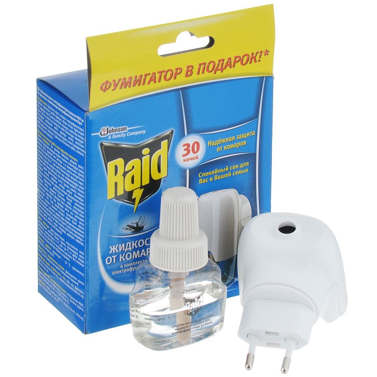 Электрофумигатор Рейд против комариных укусов