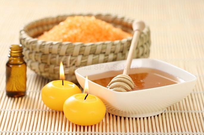 Медово-апельсиновый скраб