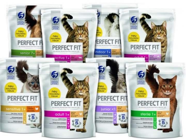 8 пакетов корма Перфект Фит для кошек