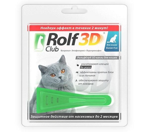 &quot,Рольфклуб 3d&quot, от блох на кошках